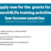Apply now for grants for Research4Life training activities in low-income countries