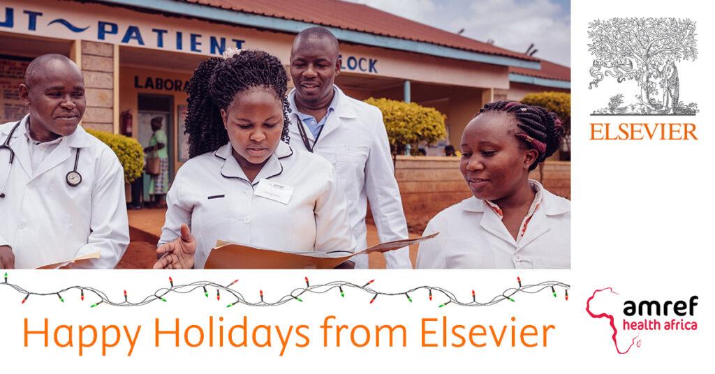 Elsevier Christmas card amref